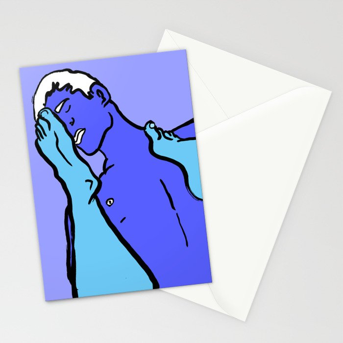 Footy Players Stationery Cards