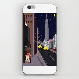 Raining in Manhattan iPhone Skin