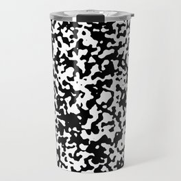 Small Spots - White and Black Travel Mug