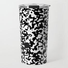 Small Spots - White and Black Travel Mug