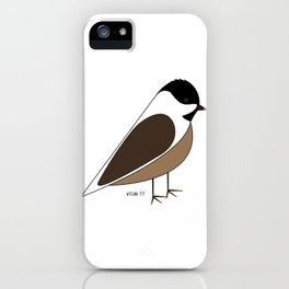 Willow Tit iPhone Case