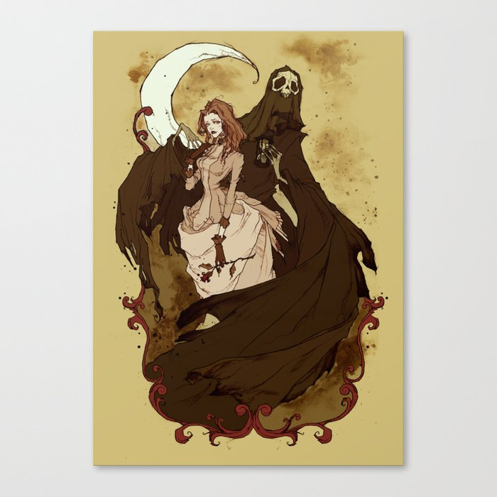 Death and the Maiden Canvas Print