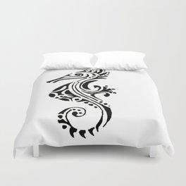 seahorse tatoo white Duvet Cover