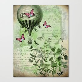 Butterfly Balloon Canvas Print