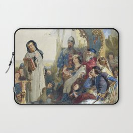 Madox Brown Chaucer at the Court of Edward III Laptop Sleeve