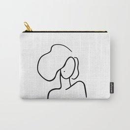 Minimalist Woman Portrait Carry-All Pouch