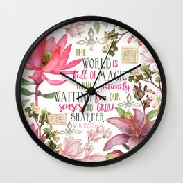TS Magic Yeats Wall Clock