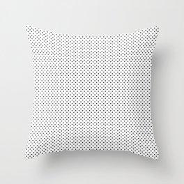 MIni Black Polka Dot Hearts on White Throw Pillow