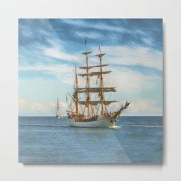 Sailing Grace Metal Print