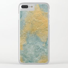Copper Turquoise Abstract Face Beautiful Sadness #01 Clear iPhone Case
