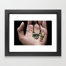 Hold On To The Little Things Framed Art Print