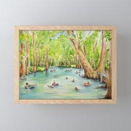 Blue Hole Wimberley Texas Framed Mini Art Print