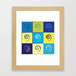 Spirals on Squares Framed Art Print