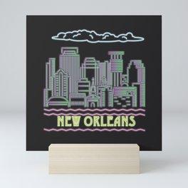 Mew Orleans Neon City Mini Art Print