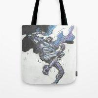hero Tote Bags featuring Hero? by Steven Goddard