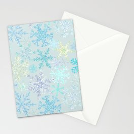 icy snowflakes Stationery Cards