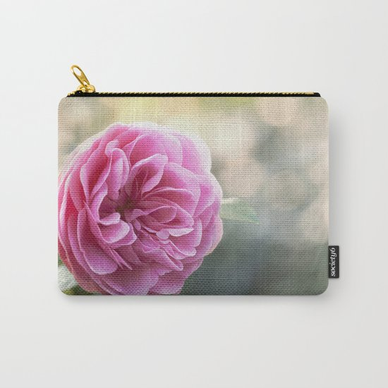Lady in pink - Pink romantic rose at Backlight- roses flowers Carry-All Pouch