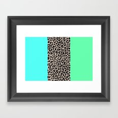 Leopard National Flag XIV Framed Art Print