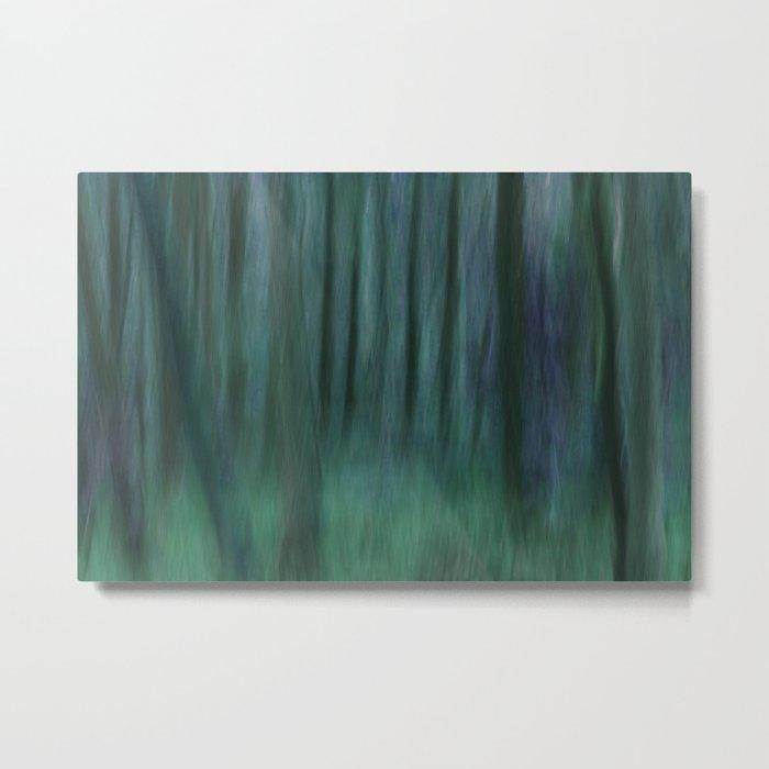 Painted Trees 2 Aqua Metal Print