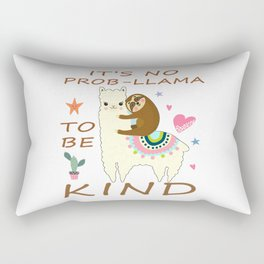 It's No Prob Llama To Be Kind Anti Bullying Awesome Gift T-Shirt T Rectangular Pillow