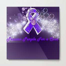 Passion Purple For a Cure Metal Print