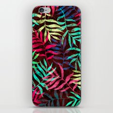 Watercolor Tropical Palm Leaves IV iPhone Skin