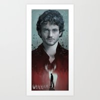 will graham Art Prints featuring Will Graham by Alba Palacio