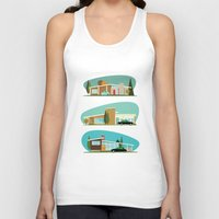 hollywood Tank Tops featuring Hollywood Bungalows by Hand Drawn Creative
