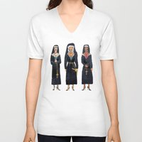 sister V-neck T-shirts featuring Holy Moly by Torrinika