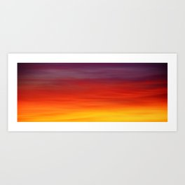 Two Tone Sunset Art Print