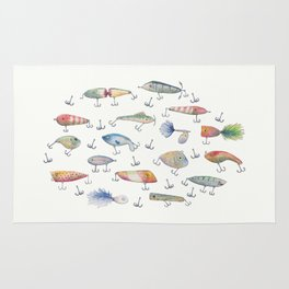 Fishing Lures Rug