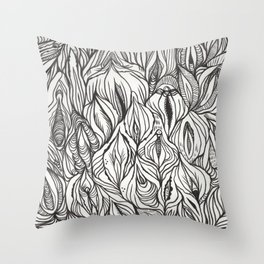 pussy power Throw Pillow