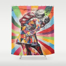New York Graffiti Shower Curtain