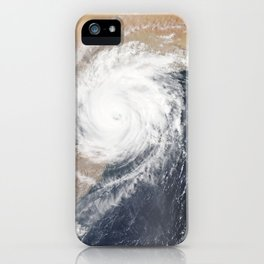 Tropical Cyclone Chapala Over the Gulf of Aden iPhone Case