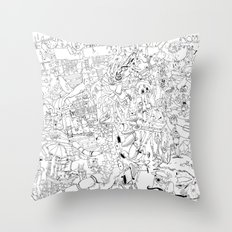 Fragments of memory Throw Pillow