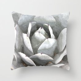 Succulent cactus watercolor Throw Pillow