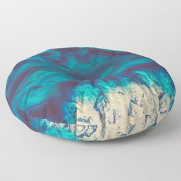 Blue Agate River of Earth Floor Pillow