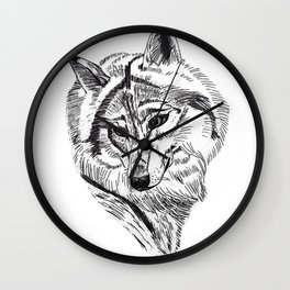 An Wolf Wall Clock