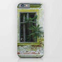 Lostplaces Window in castle Pottendorf iPhone Case