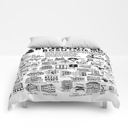 Bowling Green State University Map Comforters