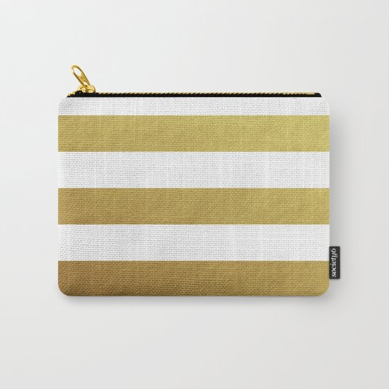 gold stripes Carry-All Pouch
