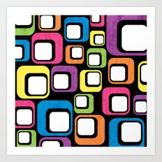 Retro All Sorts. Art Print