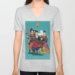 Dragon Ball Bushido : Goku's family Unisex V-Neck