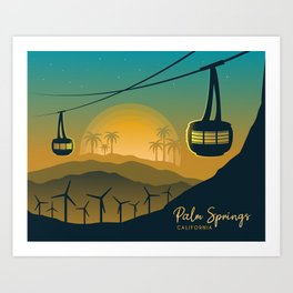 Palm Springs Valley - Sunrise Horizontal Version Art Print