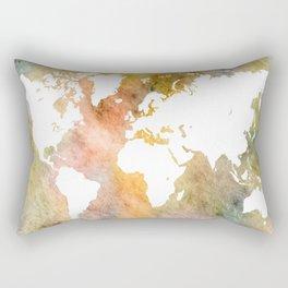 Design 63 World Map Rectangular Pillow