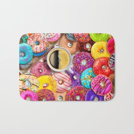 Donuts & Coffee Bath Mat