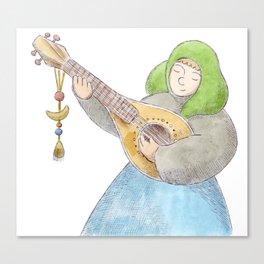 Girl with a Mandolin Canvas Print