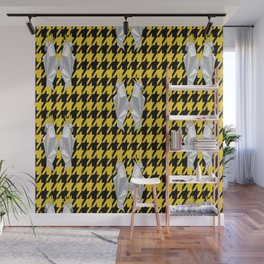Yellow Houndstooth Wall Mural