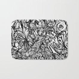 Conquer (Black & White Version)  Bath Mat