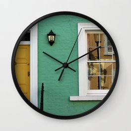 Green House in Chelsea Wall Clock